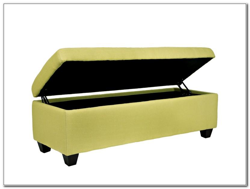 Green Storage Ottoman Bench