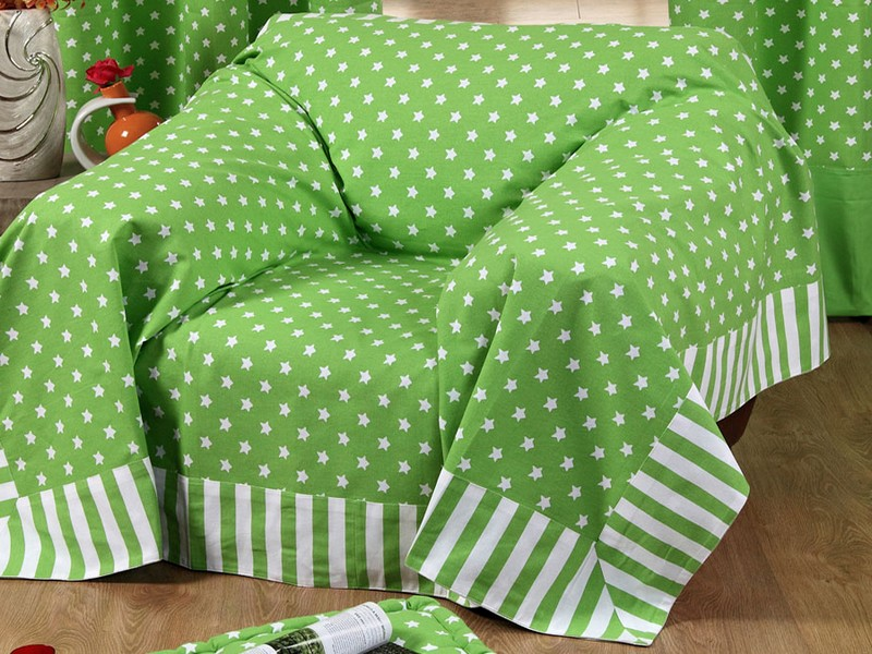 Green Throws For Sofas