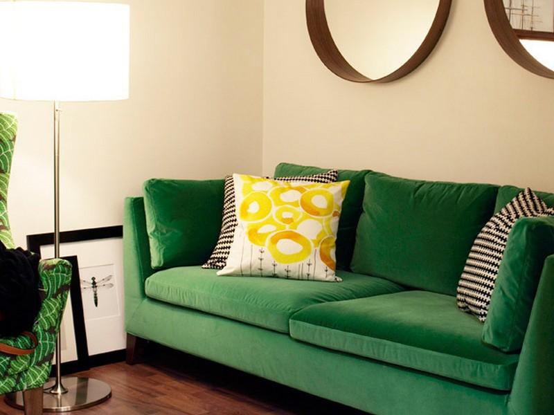 Green Velvet Couch Ikea