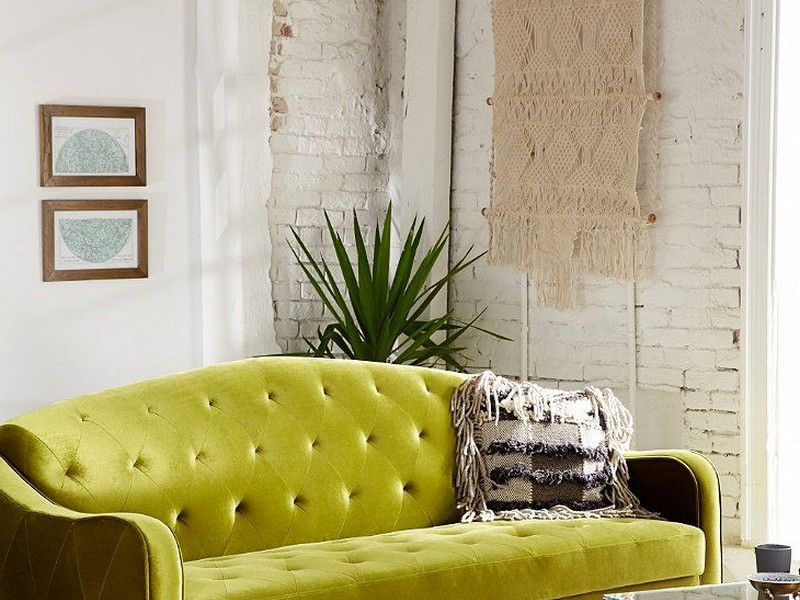 Green Velvet Couch Urban Outfitters