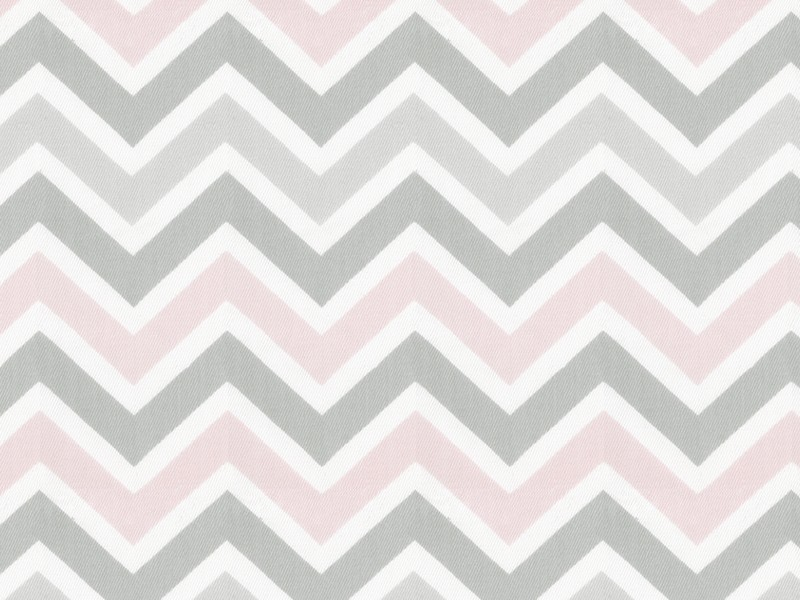 Grey And Pink Chevron Rug