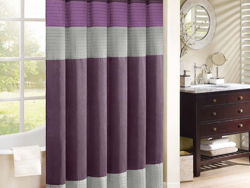 Grey And Purple Bathroom Accessories