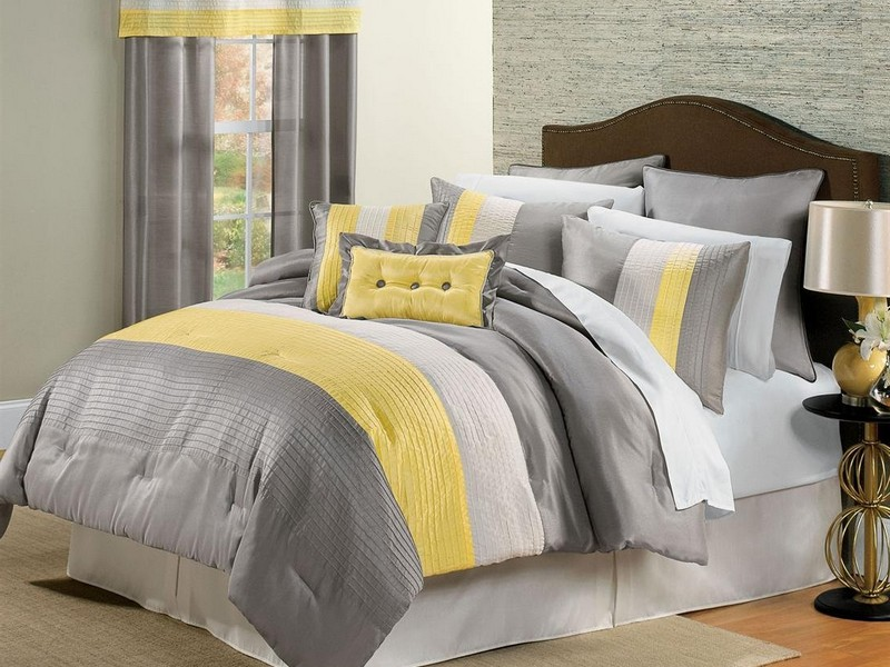 Grey And Yellow King Size Bedding