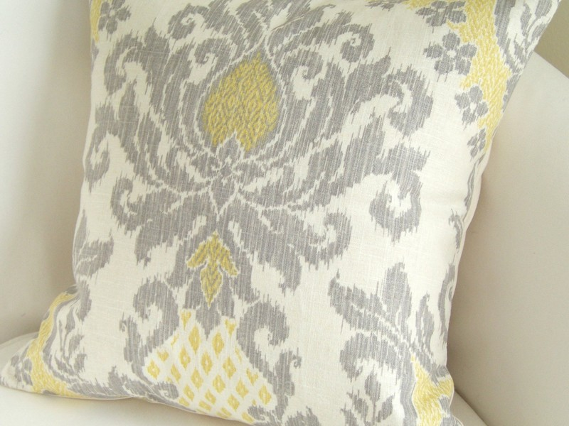 Grey And Yellow Pillows