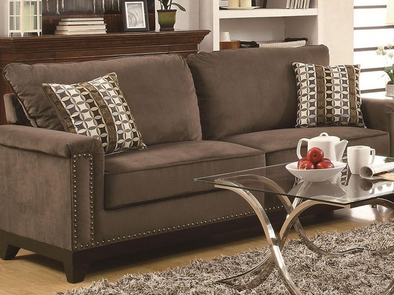 Grey Leather Reclining Sofa