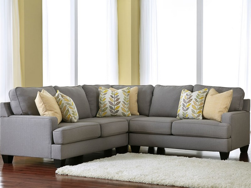 Grey Microfiber Sectional