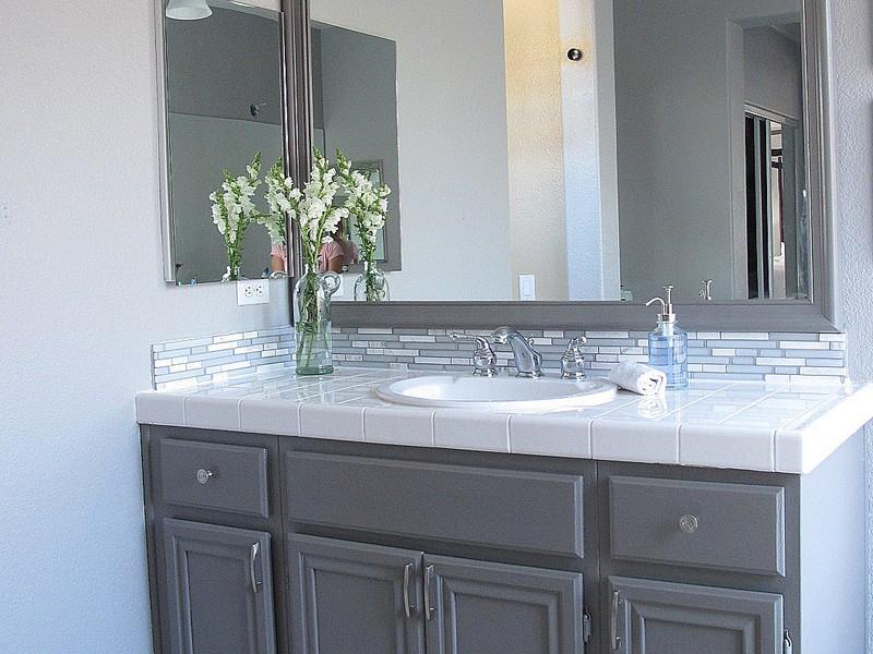 Grey Painted Bathroom Vanity