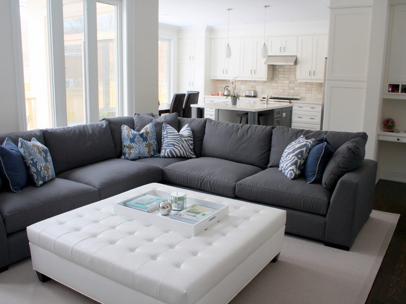 Grey Sectional Couch Decorating Ideas
