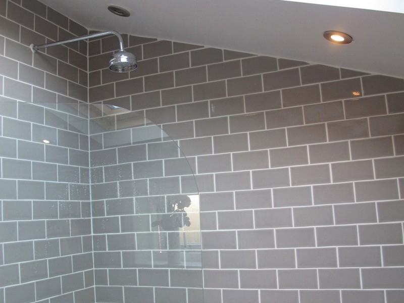 Grey Subway Tile Bathrooms