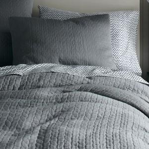 Grey Textured Duvet Cover