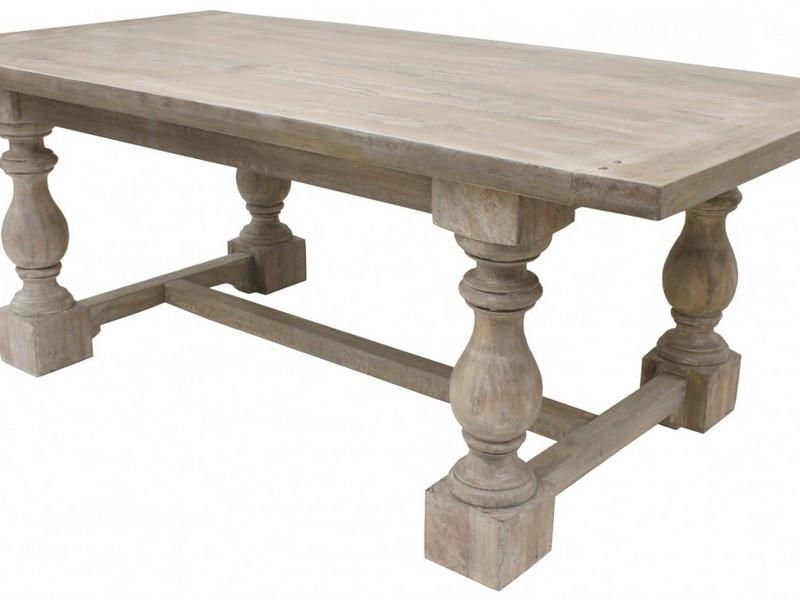 Grey Wash Wood Dining Table