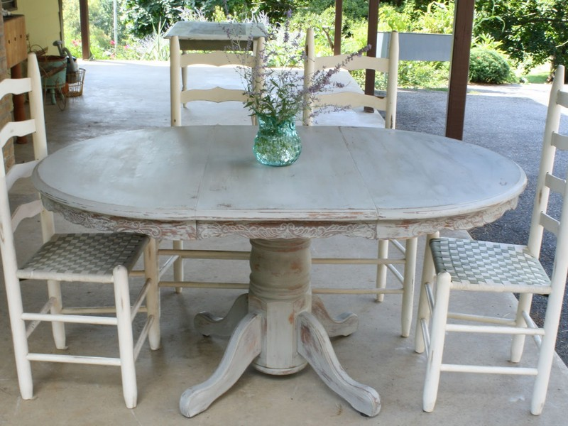 Grey Weathered Dining Table