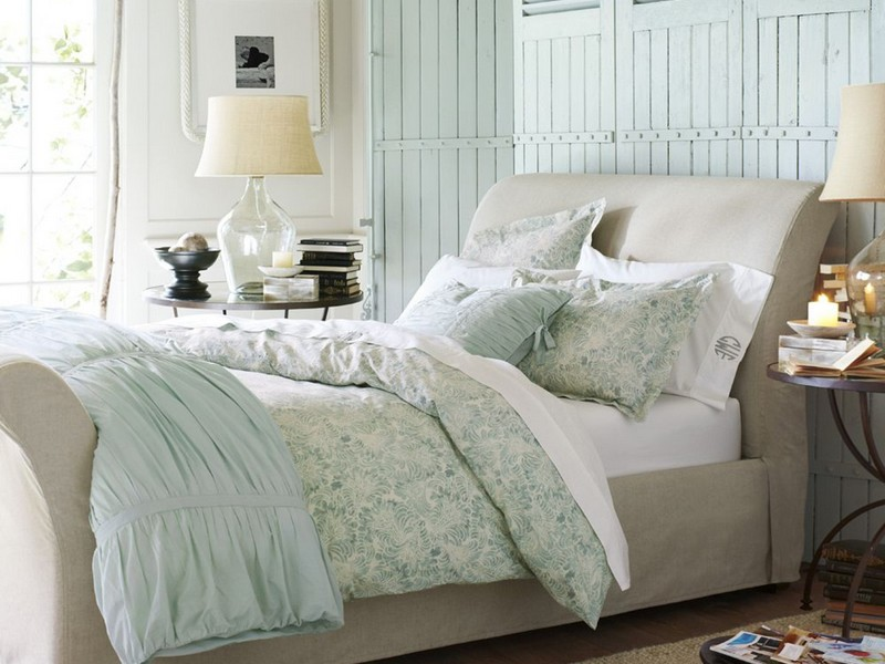 Hadley Ruched Duvet Cover Blue