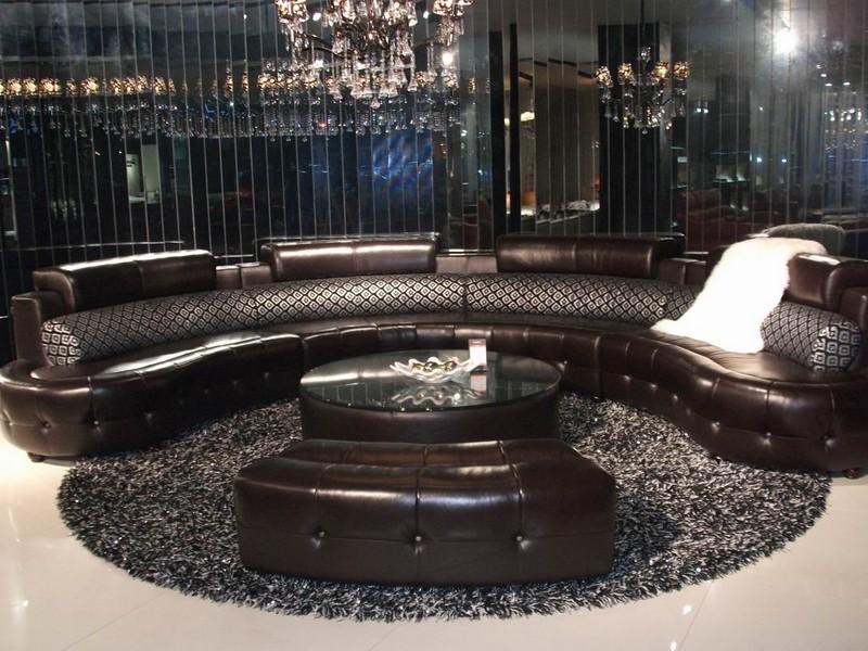 Half Circle Leather Sofa