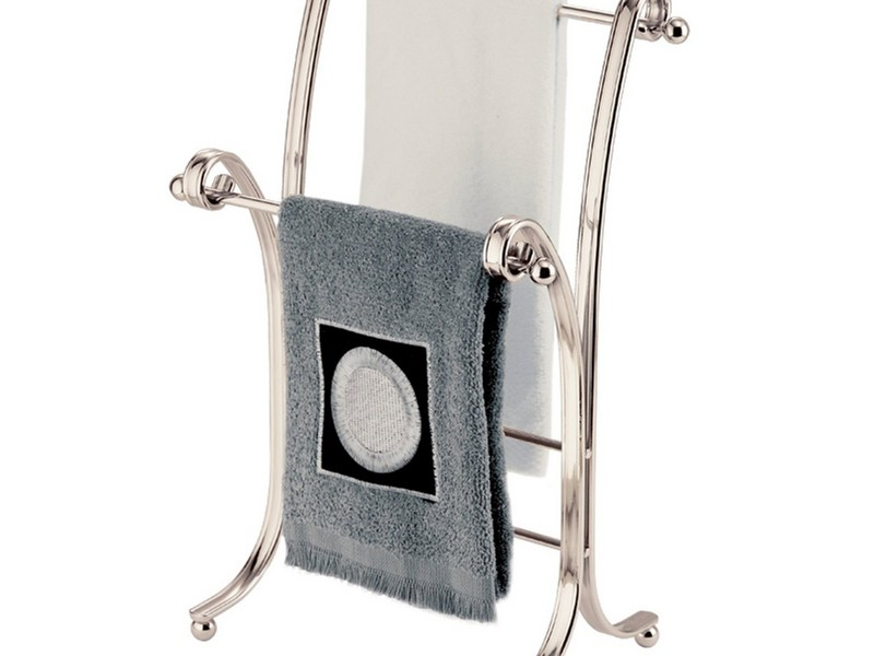 Hand Towel Stand Brushed Nickel