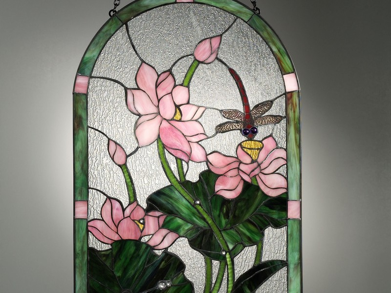 Hanging Stained Glass Panels