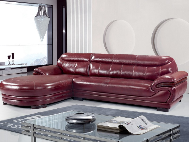 Heated Leather Couch