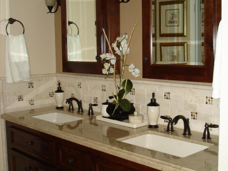 Height Of Bathroom Vanity Backsplash
