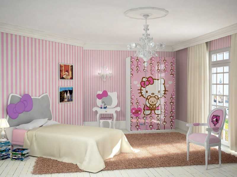 Hello Kitty Headboard Decal
