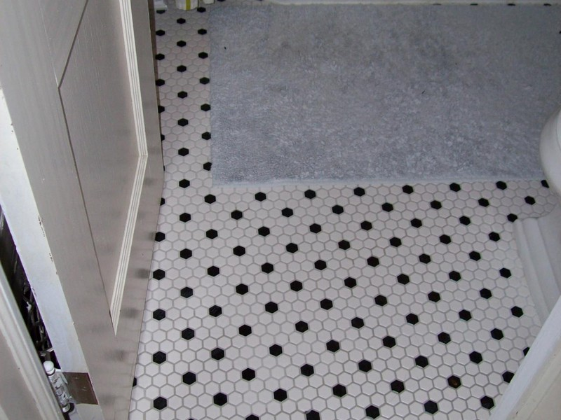 Hexagon Bathroom Tile Designs