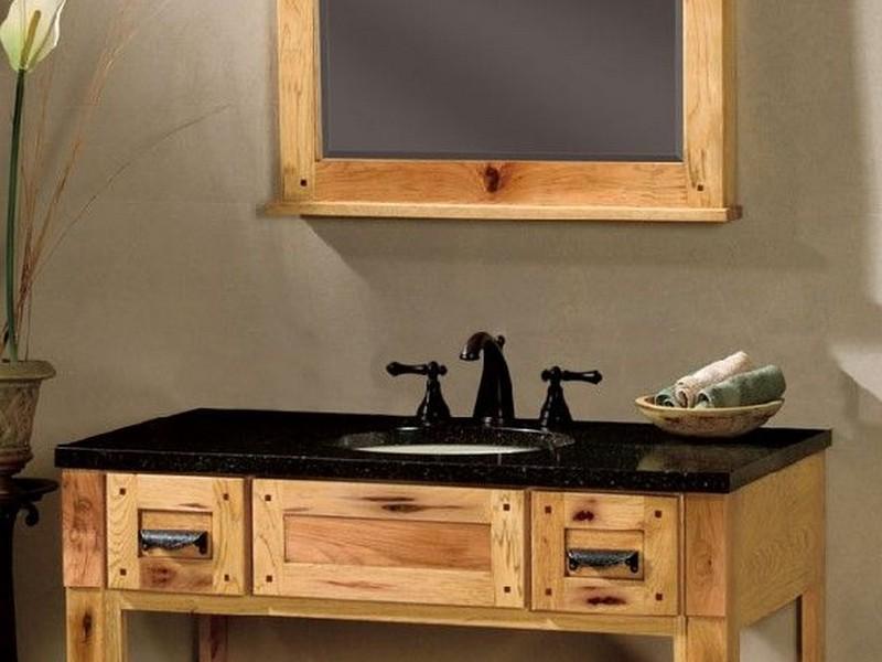 Hickory Bathroom Vanity 48