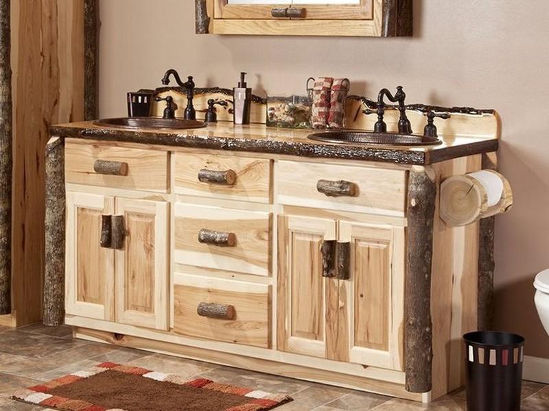Hickory Bathroom Vanity Cabinet