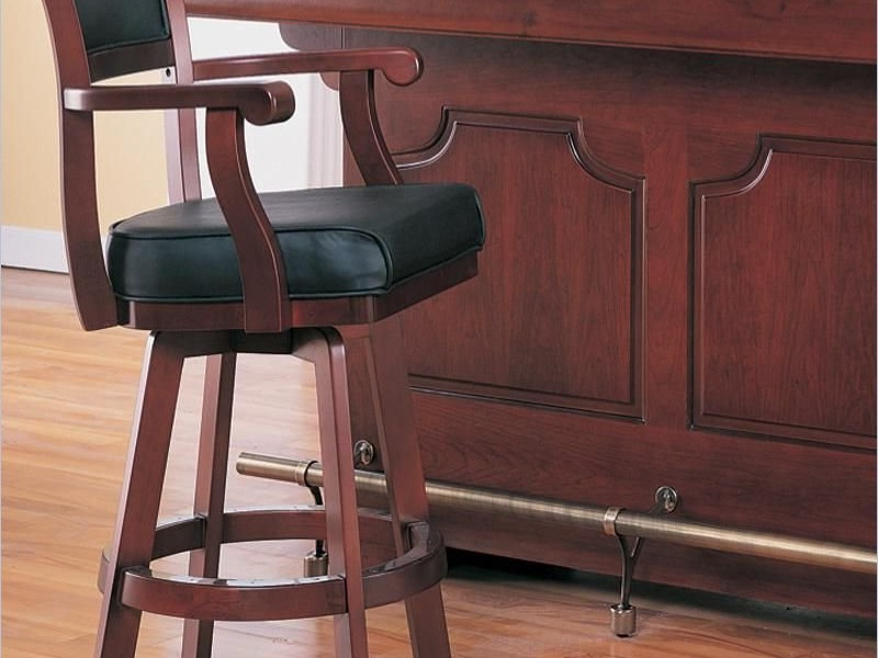 High Back Bar Stools With Arms