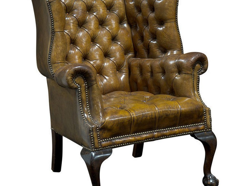 High Back Leather Library Chair