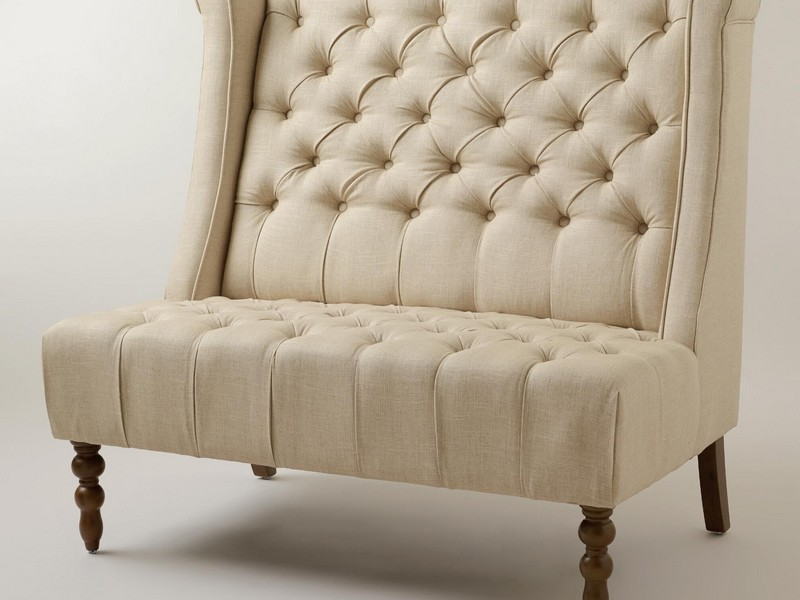 High Back Settee Upholstered