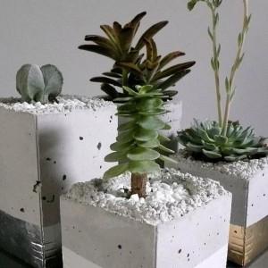 Homemade Cement Flower Pots