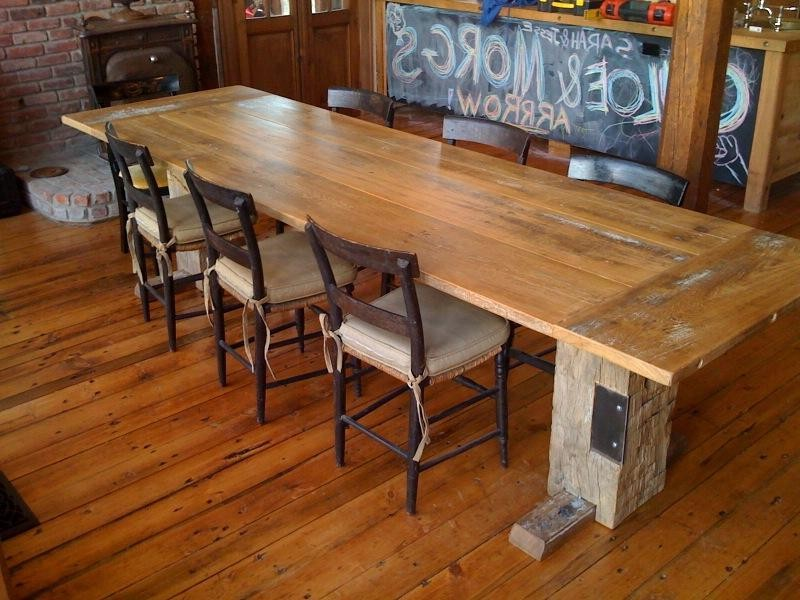 Homemade Rustic Dining Table