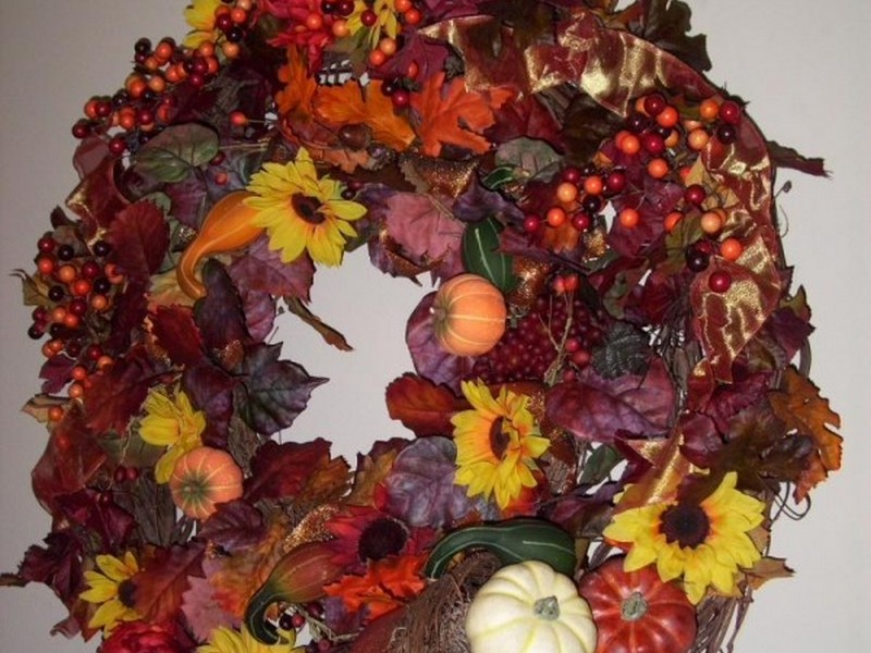 Homemade Thanksgiving Wreath Ideas