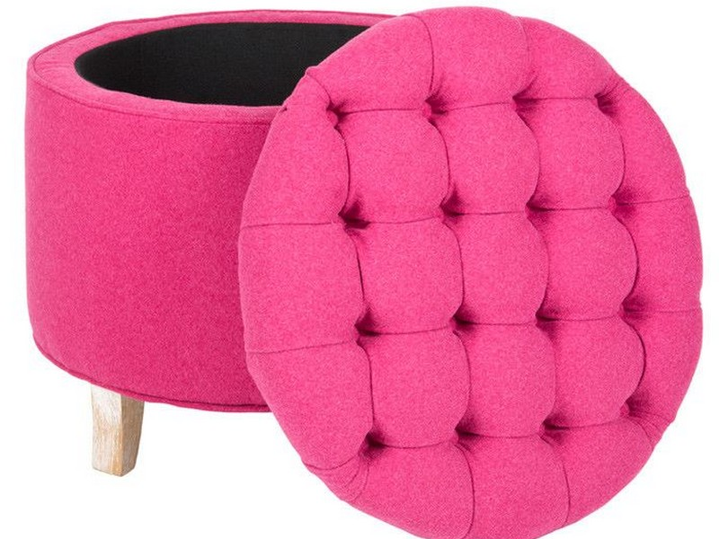 Hot Pink Ottoman