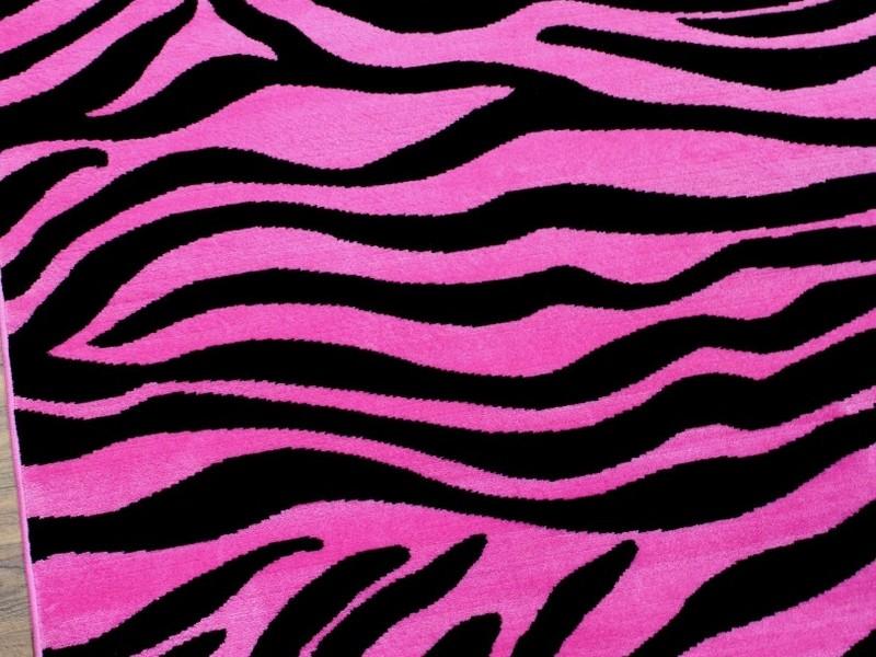 Hot Pink Zebra Rug