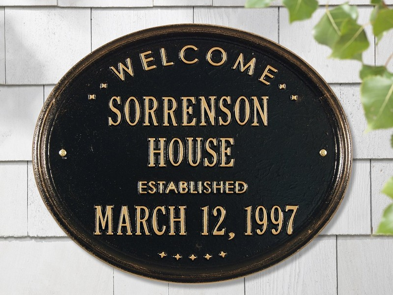 House Plaques Personalized