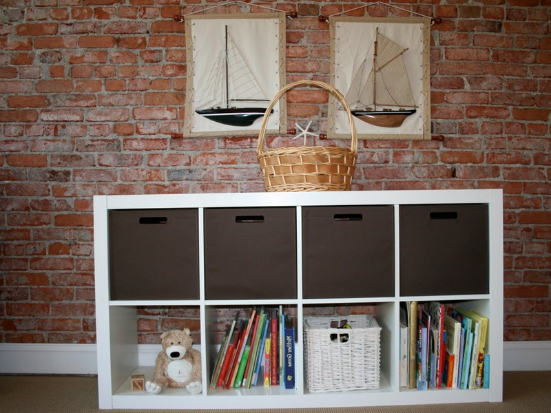 Ikea Bookcase With Baskets