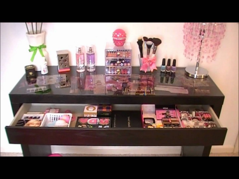 Ikea Malm Vanity Makeup Table Black