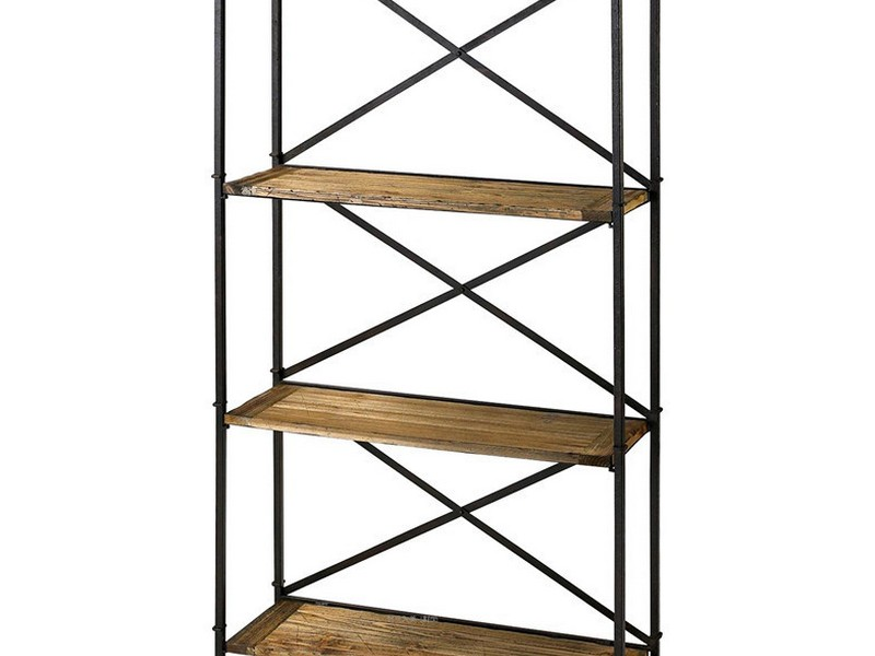 Ikea Metal And Wood Bookshelf