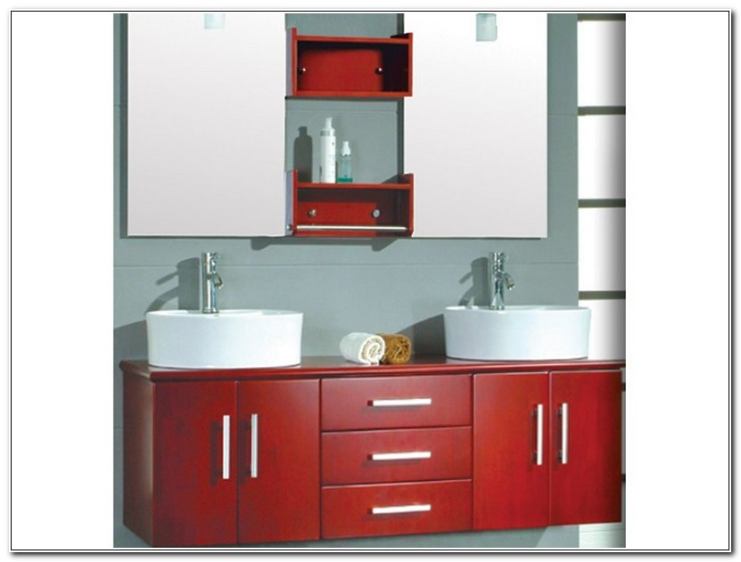 Ikea Red Bathroom Vanity