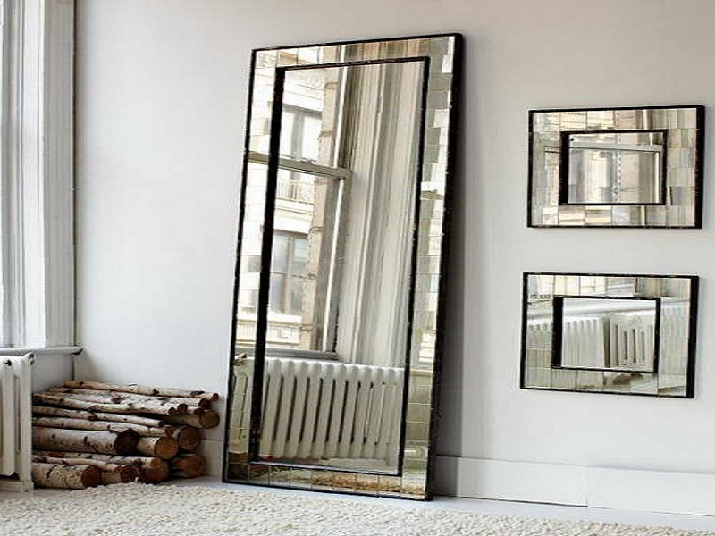 Ikea Silver Floor Mirror