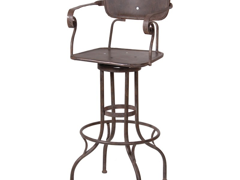 Industrial Metal Bar Stools With Backs