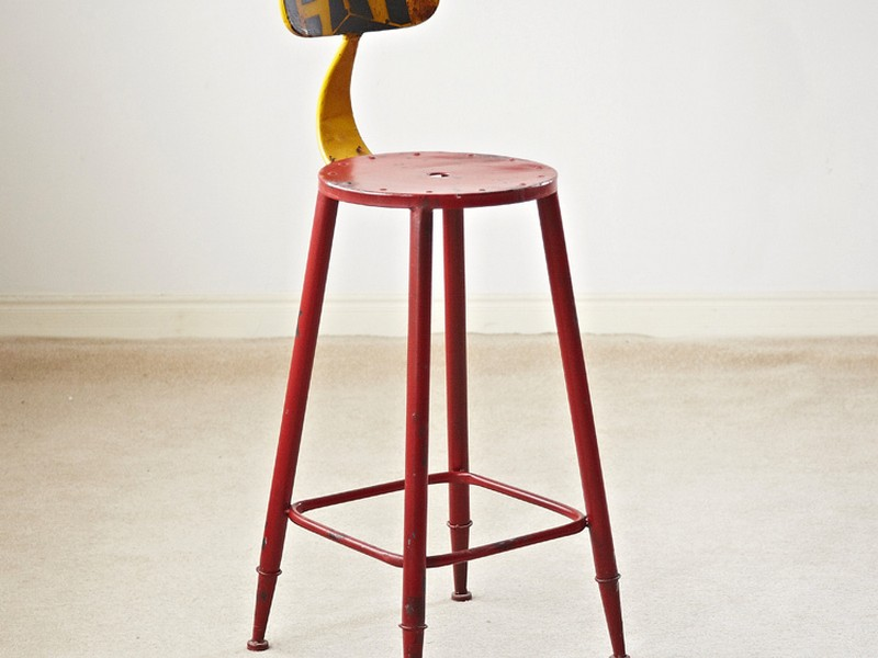 Industrial Style Bar Stools With Back