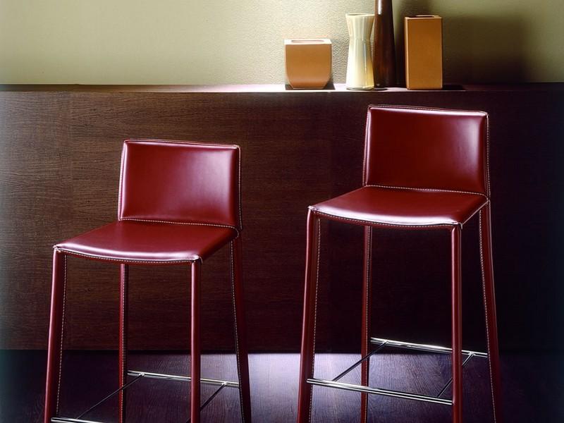 Italian Designer Leather Bar Stools