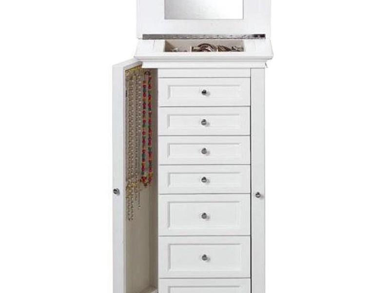 Jewelry Armoire White