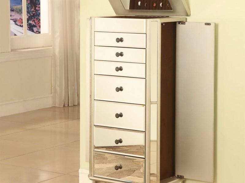 Jewelry Mirror Armoire