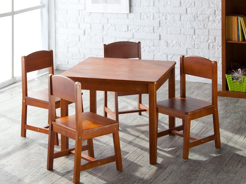 Kidkraft Farmhouse Table Chair Set Espresso