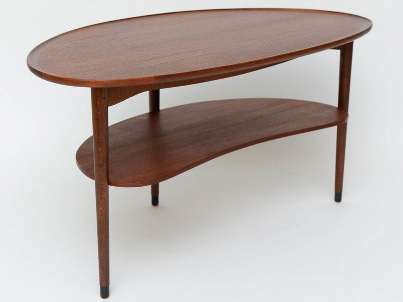 Kidney Shaped Coffee Table Vintage