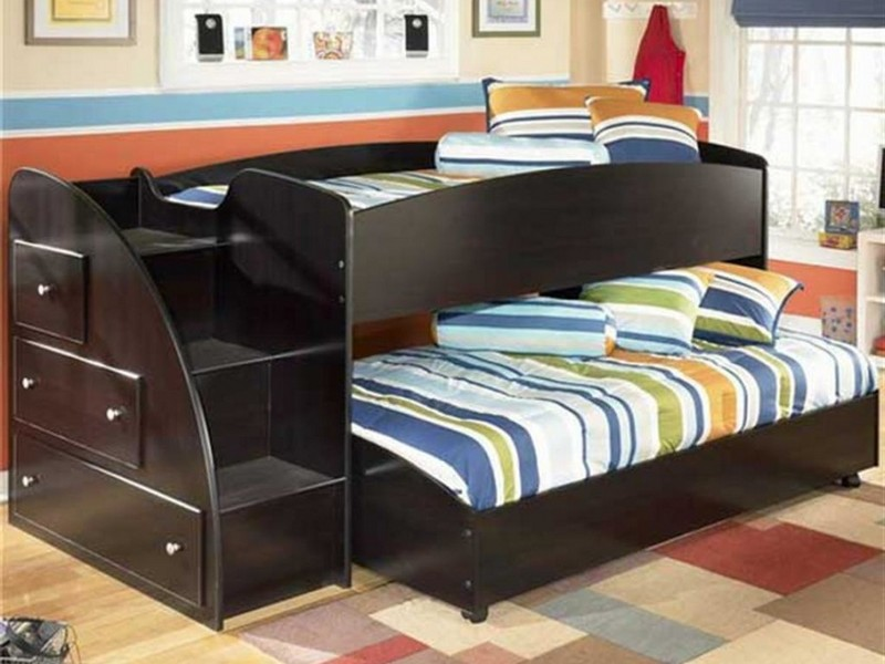 Kids Loft Bed With Trundle