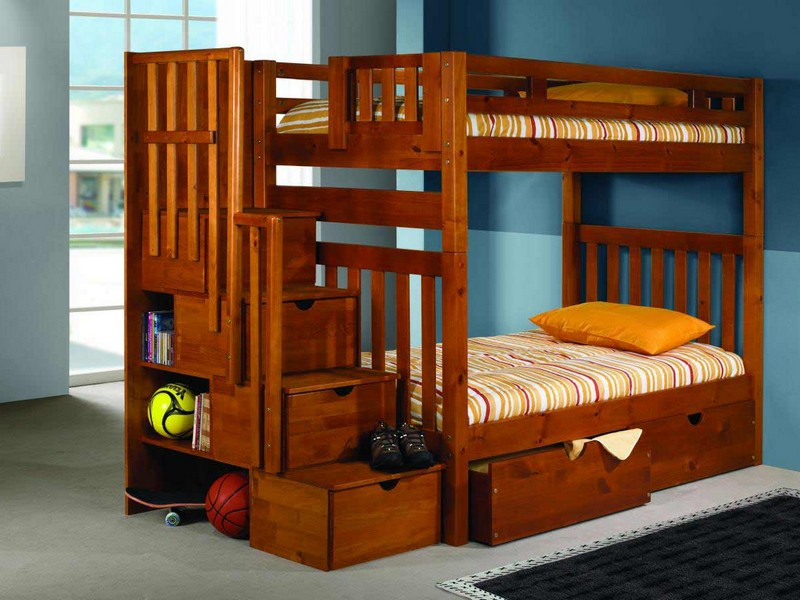 Kids Trundle Bed With Desk
