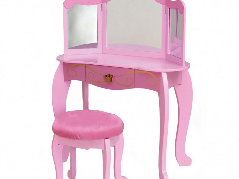 Kids Vanity Table And Stool